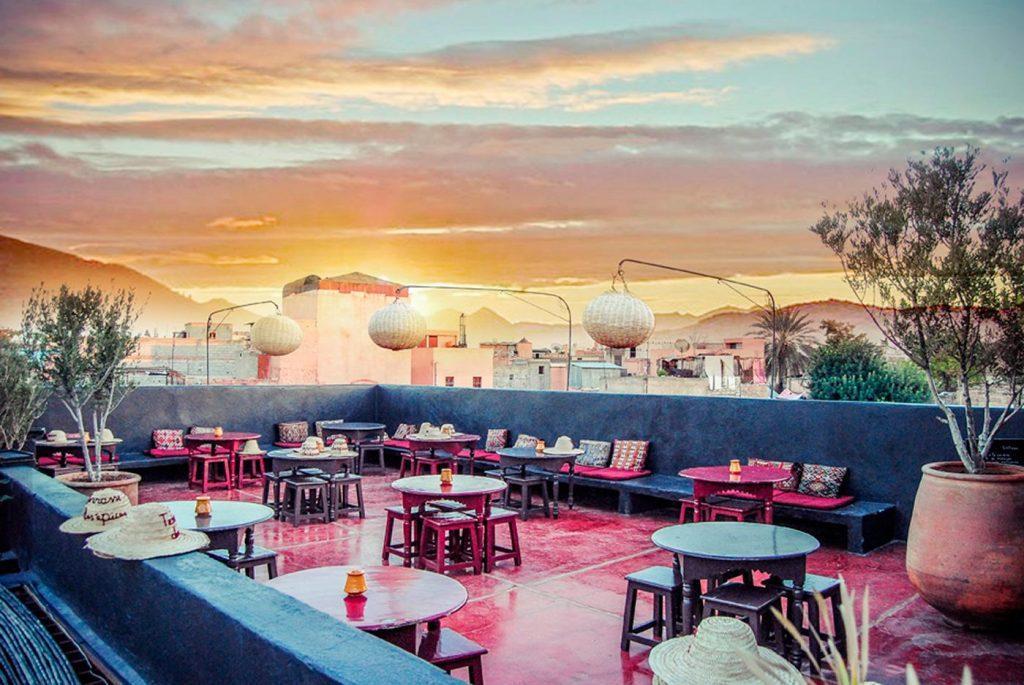 Maroc - Marrakech - Restaurant - La terrasse des éipces