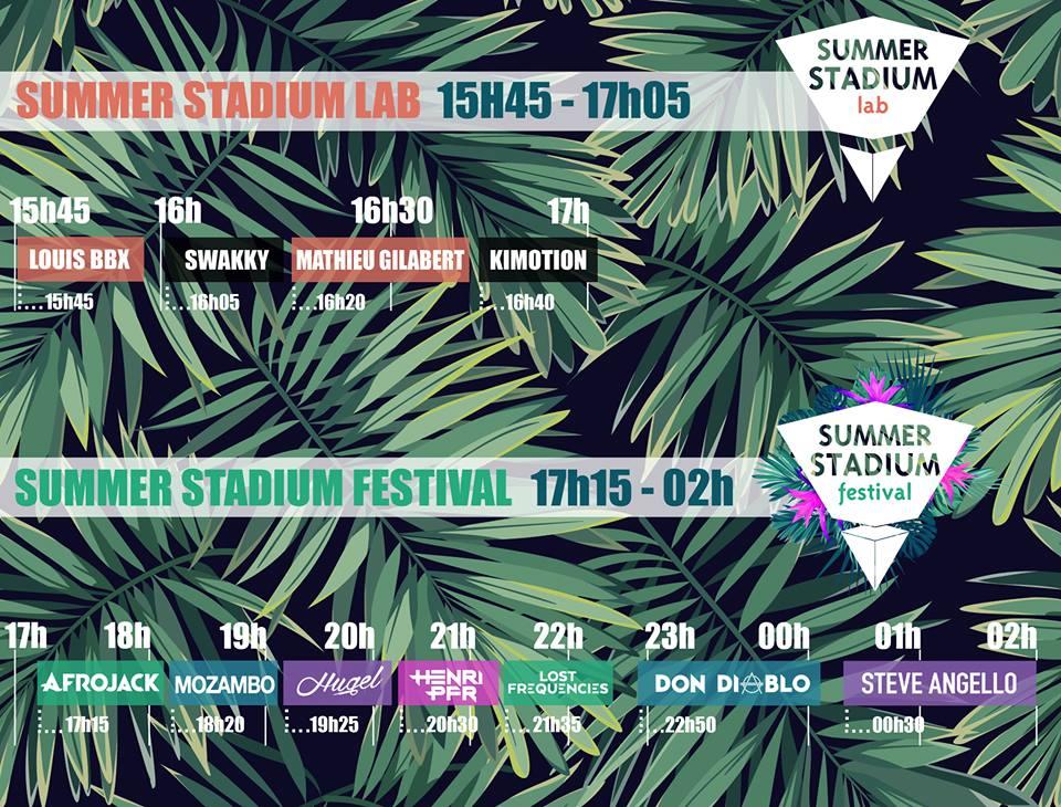 programme festival - dj - Summer Stadium Festival - Marseille