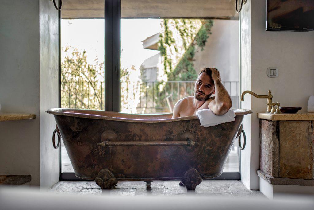 UcapuBiancu | Bonifacio | Baignoire chambre Hotel