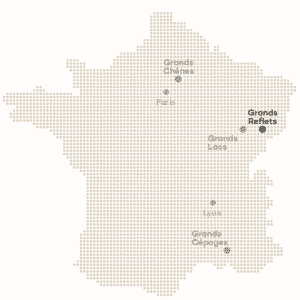 Carte France - Coucoo - Domaines Cabanes