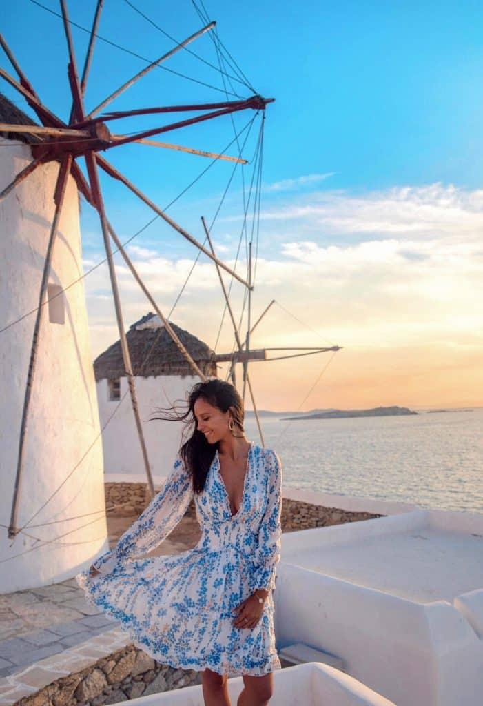 Grèce | Ville de Mykonos | Balade dans les rues | Moulins à vent