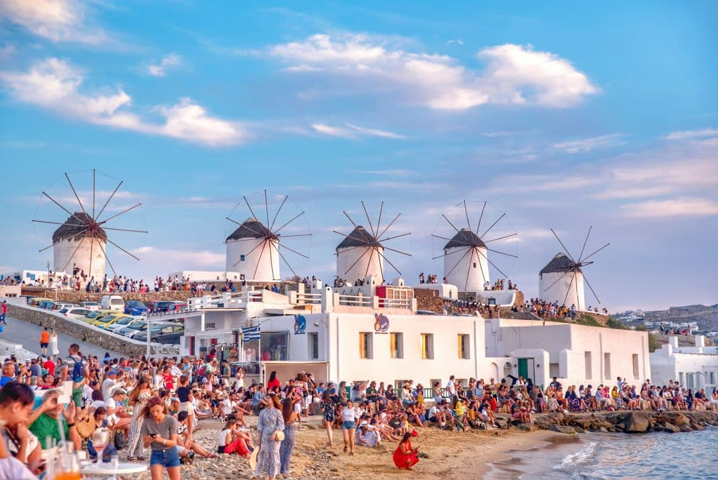 Grèce | Ville de Mykonos | Moulins à vent
