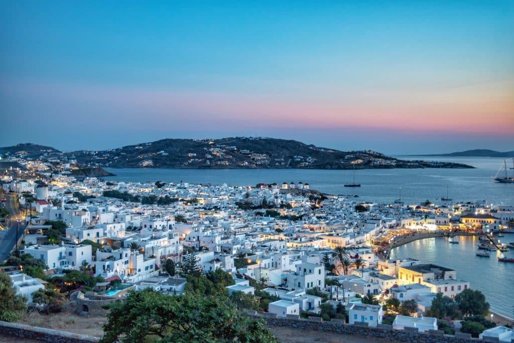Grèce | Mykonos | 180 degrés sunset Bar | Night