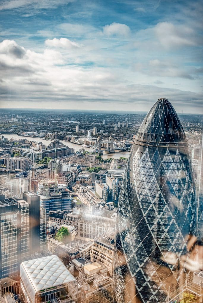 Duck and Waffle London view